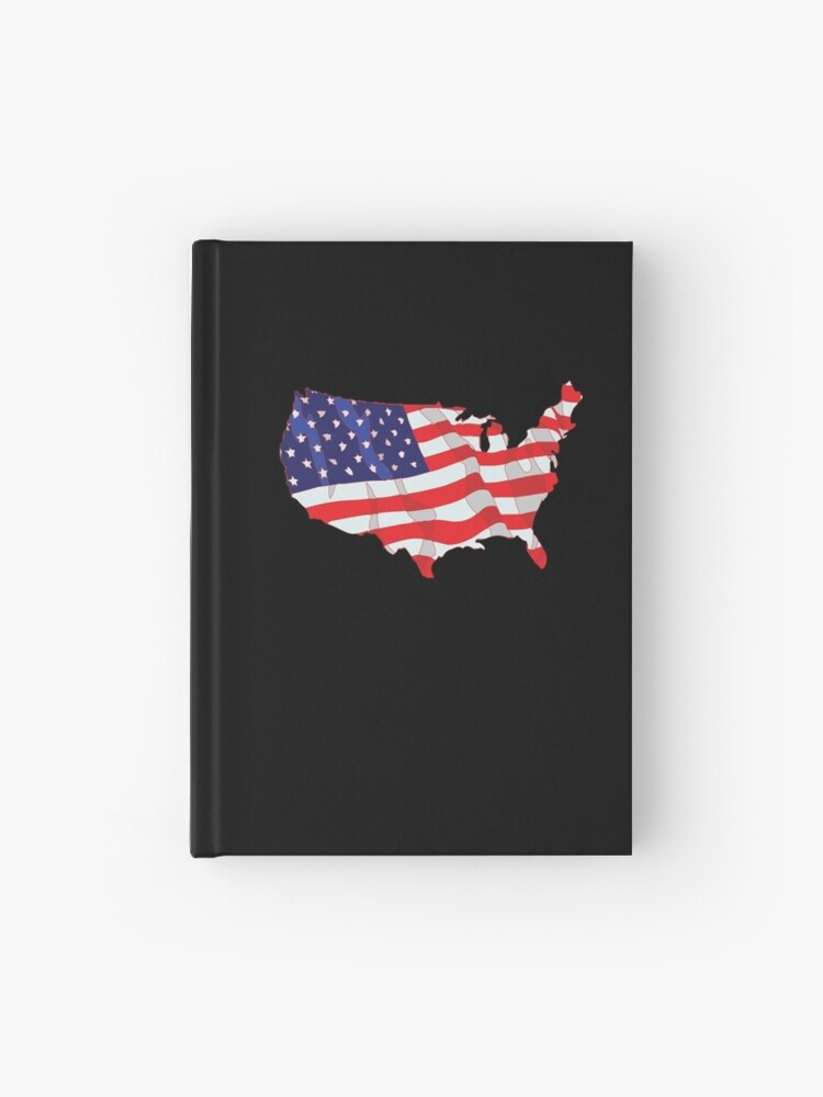 American Flag Map Of United States Usa Patriotic Design - American-flag-us-map