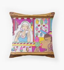 I Scream for Ice Cream Throw Pillow