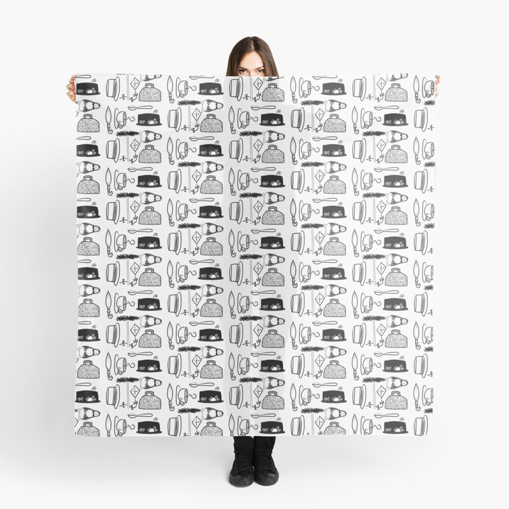 Mary Poppins Doodles Scarf
