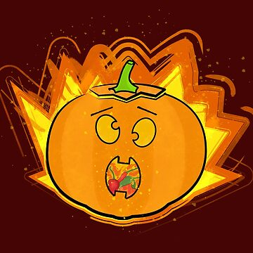Shocked Pumpkin by GeekyMcGeekface