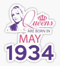 It's My Birthday 84. Made In May 1934. 1934 Gift Ideas. Sticker
