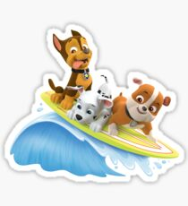 PAW Patrol Marshall, Rubble and Chase Summer Surfboard Sticker