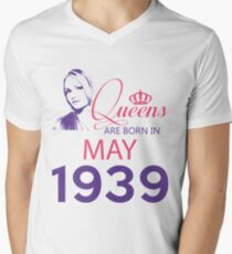 It's My Birthday 79. Made In May 1939. 1939 Gift Ideas. Men's V-Neck T-Shirt
