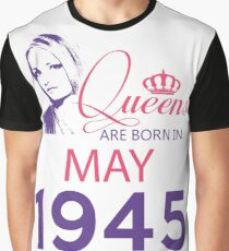 It's My Birthday 73. Made In May 1945. 1945 Gift Ideas. Graphic T-Shirt