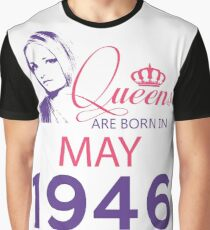 It's My Birthday 72. Made In May 1946. 1946 Gift Ideas. Graphic T-Shirt
