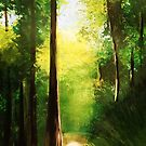 Sequoia Sunlight - original painting by mjh, 09-30-2018 by eustacia42
