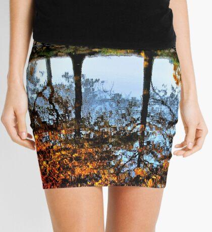 Boston, Fall Reflection  Mini Skirt