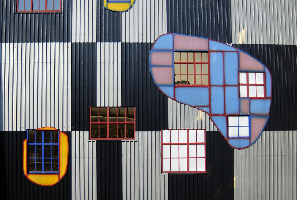 Colorful Facade of Hundertwasser's Spittelau Incinerator Plant in Vienna, Austria  by Petr Svarc
