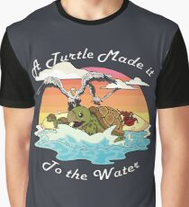 A Turtle Made it to the Water! Graphic T-Shirt