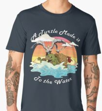 A Turtle Made it to the Water! Men's Premium T-Shirt