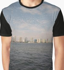#skyline, #city, #water, #buildings, #urban, #sky, #architecture, #cityscape, #building, #skyscraper, #newyork, #downtown, #manhattan, #blue, #panorama, #river, #view, #usa, #skyscrapers Graphic T-Shirt