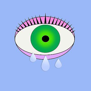 Crying Eye by grinningskull
