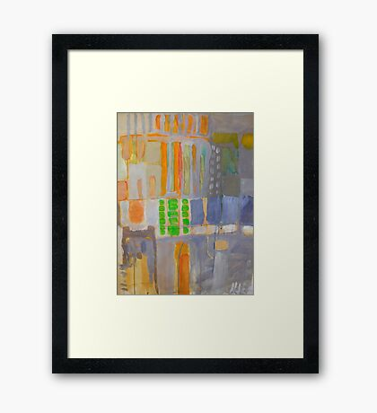 block 2 Framed Print
