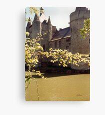 The Moat - Laarne Castle - Belgium Canvas Print