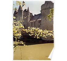 The Moat - Laarne Castle - Belgium Poster