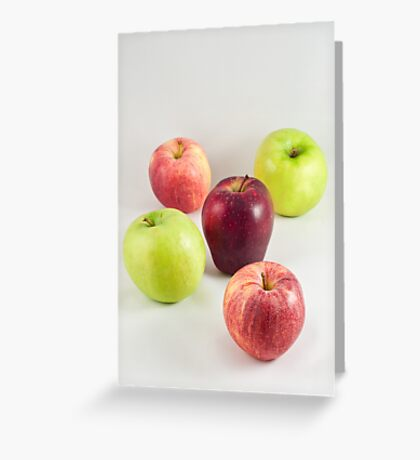 Apples on White Greeting Card