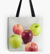 Apples on White Tote Bag