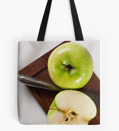 Green Apple and Knife Tote Bag