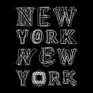 NEW YORK black and white by fimbisdesigns