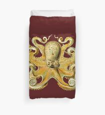 Octopus Tan Duvet Cover