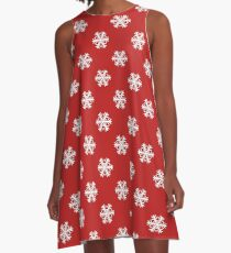 Snowflake Flurry - red A-Line Dress