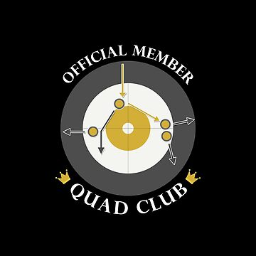 "The ""Quad Club"" - White Text by itscurling"