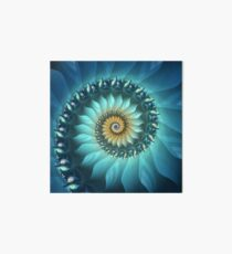 Mystical Gold and Blue Spiral Art Board