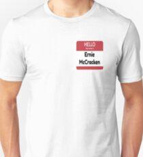 Lustiges Bowie-Namensschild Ernie McCracken Slim Fit T-Shirt