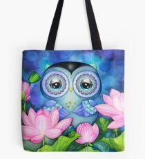 Owl in Lotus Pond Tasche