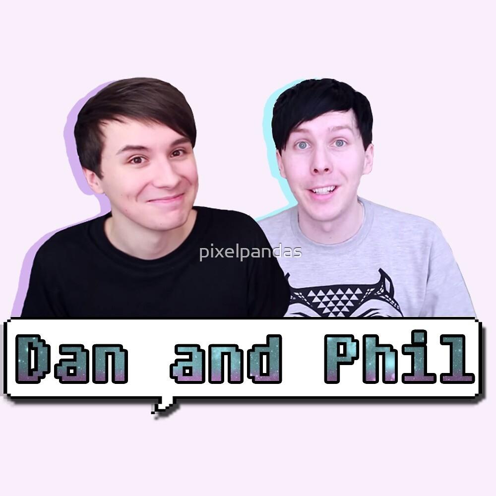 Quot Dan And Phil Pastel Quot By Pixelpandas Redbubble