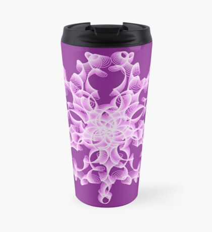 Abstract flower in lilac Travel Mug