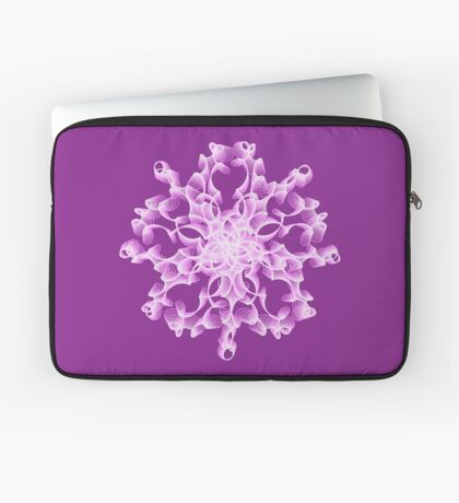 Abstract flower in lilac Laptop Sleeve