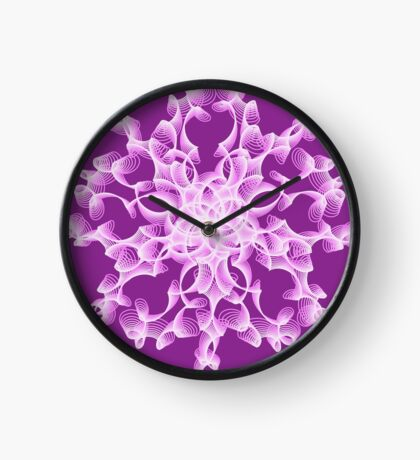 Abstract flower in lilac Clock