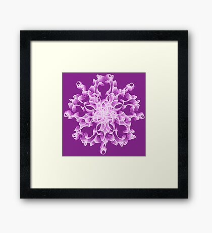Abstract flower in lilac Framed Print