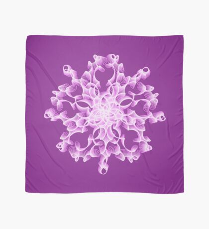 Abstract flower in lilac Scarf