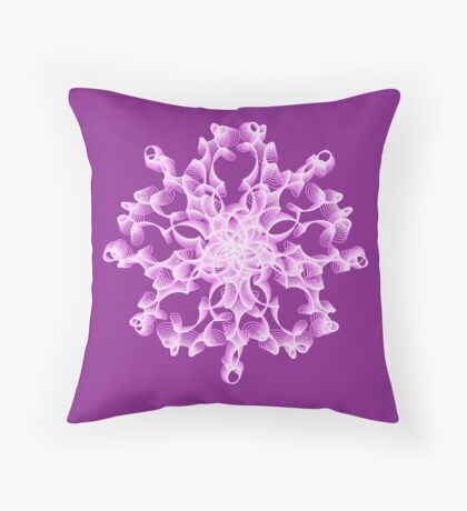 Abstract flower in lilac Floor Pillow