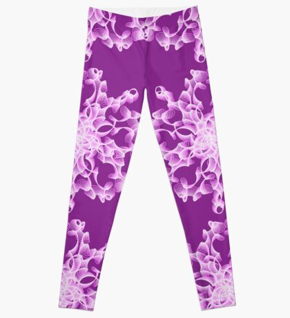 Abstract flower in lilac Leggings
