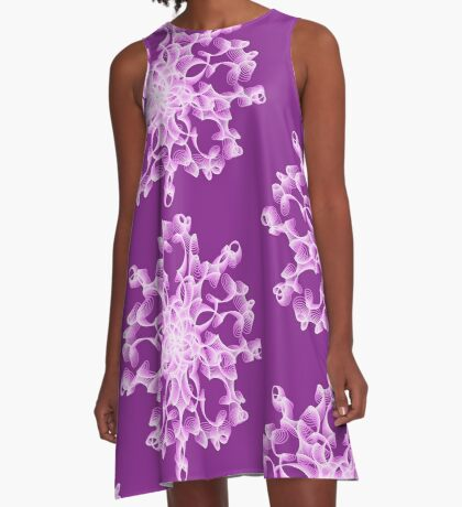 Abstract flower in lilac A-Line Dress