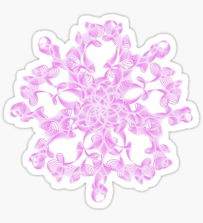 Abstract flower in lilac Sticker