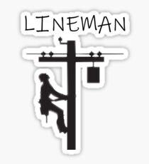 Lineman silhouette  Sticker