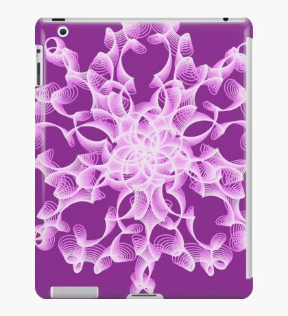 Abstract flower in lilac iPad Case/Skin