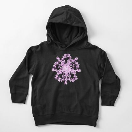 Abstract flower in lilac Toddler Pullover Hoodie