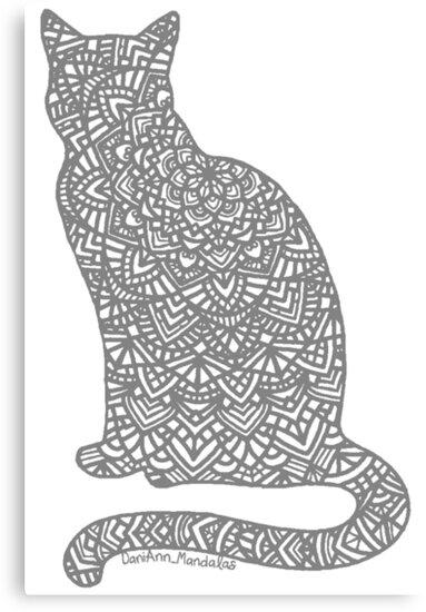 «Mandala de gato gris» de DaniAnnMandalas