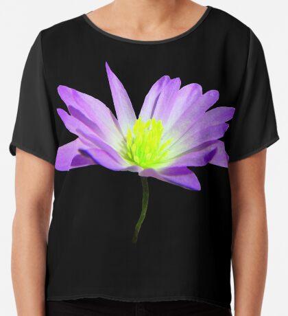 zauberhafte, violette Blüte, Blume, Sommer, Natur Chiffontop für Frauen