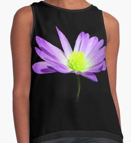 zauberhafte, violette Blüte, Blume, Sommer, Natur Kontrast Top