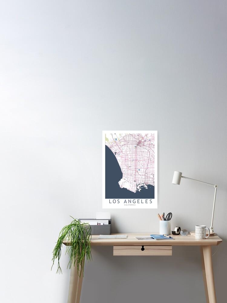 Los Angeles City Map USA California, LA City Gift | Poster on us states california cities, usa map los angeles, usa map san jose, usa map san diego, usa map oakland, usa map san francisco, usa map national city, usa map richmond, usa map sacramento, shapes california cities, zip code map california cities,