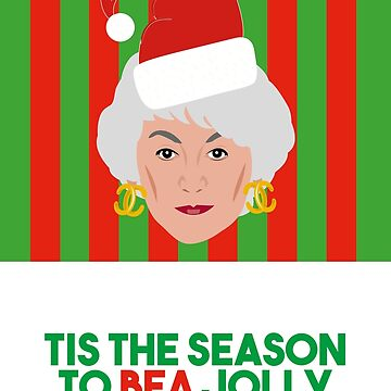 Golden Girls Dorothy Bea Arthur Christmas Card by gregs-celeb-art