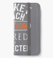 Scary Cricket Coach Gift Design iPhone Wallet/Case/Skin