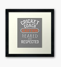 Scary Cricket Coach Gift Design Framed Print