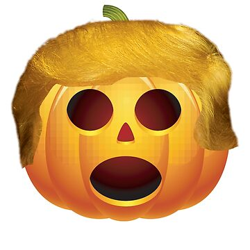 Trumpkin Carved Halloween Pumpkin with Donald Trump Hair by merchhost